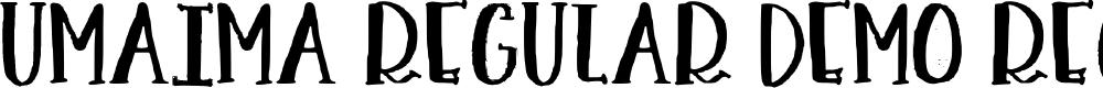 Preview image for Umaima Regular Demo Regular Font