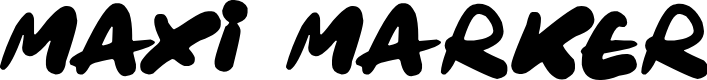 Preview image for Maxi Marker Font