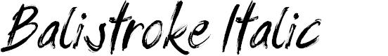 Preview image for Balistroke Italic