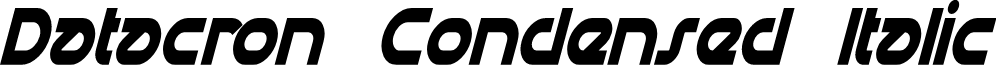 Datacron Condensed Italic