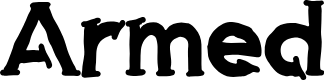 Preview image for Armed Font