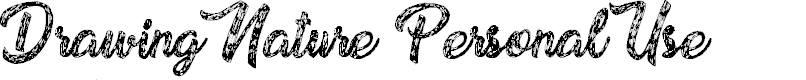 Preview image for Drawing Nature Personal Use Font