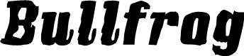 Preview image for Bullfrog Font