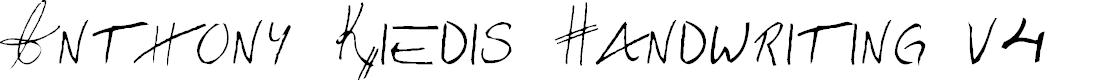 Preview image for Anthony Kiedis Handwriting v4 Font