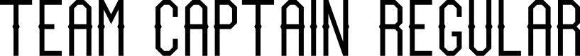 Preview image for Team Captain Regular Font