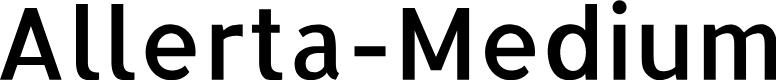 Preview image for Allerta-Medium Font