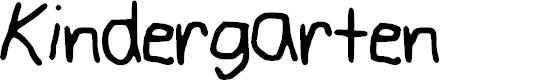 Preview image for Kindergarten Font