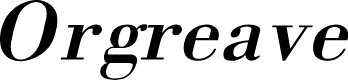 Preview image for Orgreave Italic