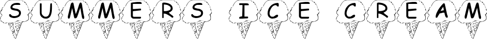 Preview image for Summer's Ice Cream Font