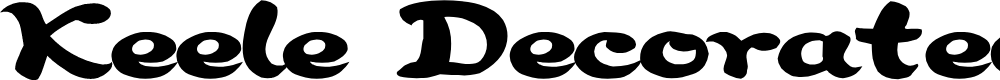 Preview image for Keele Decorated Font
