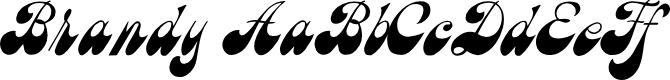 Preview image for Brandy Script Font