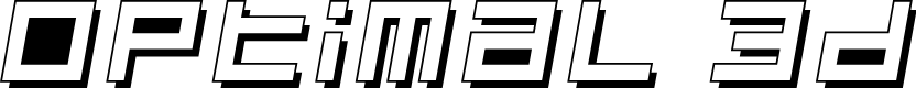 Preview image for Optimal 3d Font