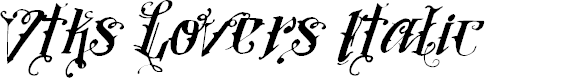 Preview image for Vtks Lovers Italic Font
