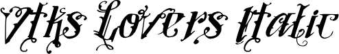 Preview image for Vtks Lovers Italic