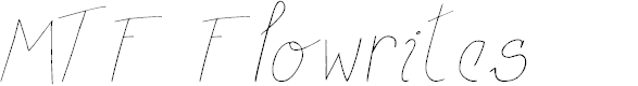 Preview image for MTF Flowrites Font
