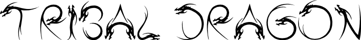 Preview image for Tribal Dragon Font