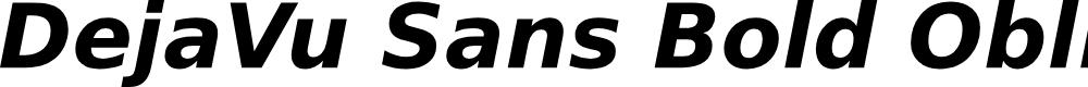 Preview image for DejaVu Sans Bold Oblique