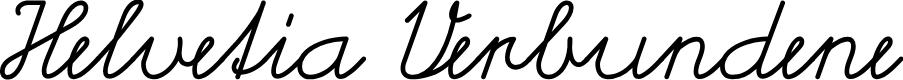 Preview image for Helvetia Verbundene Font