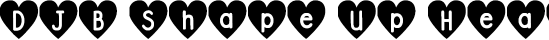 Preview image for DJB Shape Up Hearts Font