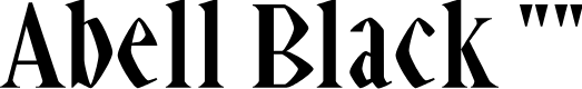 """Preview image for Abell Black """""""" Font"""
