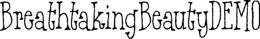 Preview image for BreathtakingBeautyDEMO Font