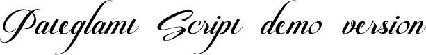 Preview image for Pateglamt Script demo version Font