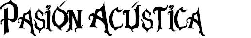 Preview image for Pasión Acústica Font