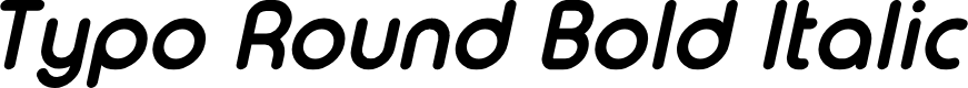 Preview image for Typo Round Bold Italic Demo