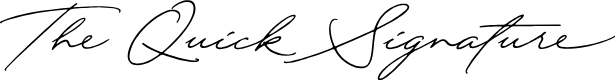 Preview image for QuickSignaturePersonalUse Font