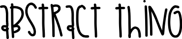 Preview image for AbstractThing Font