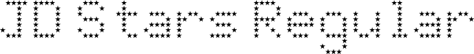 Preview image for JD Stars Regular Font