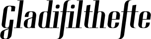 Preview image for Gladifilthefte Font