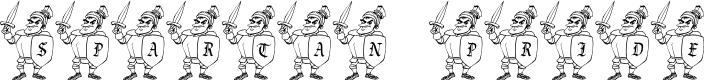Preview image for JLR Spartan Pride Font