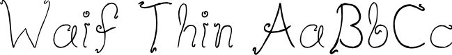 Preview image for Waif Thin Font