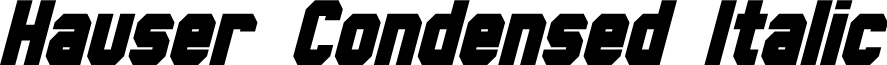 Hauser Condensed Italic