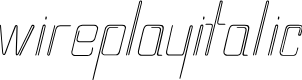 Preview image for wireplayItalic Font