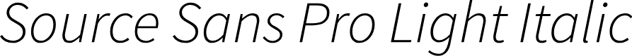 Preview image for Source Sans Pro Light Italic