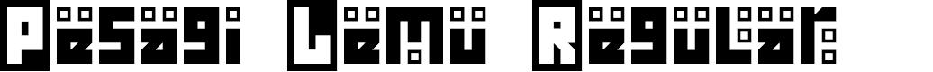 Preview image for Pesagi Lemu Regular Font