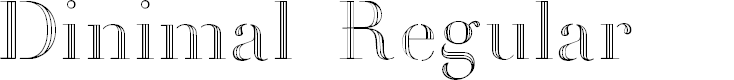 Preview image for Dinimal  Regular Font
