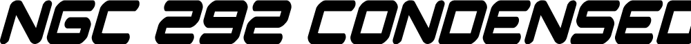 NGC 292 Condensed Italic