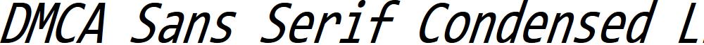 DMCA Sans Serif Condensed Light Italic