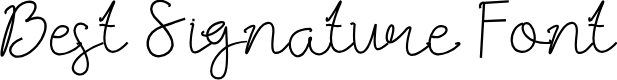 Preview image for Best Signature Font