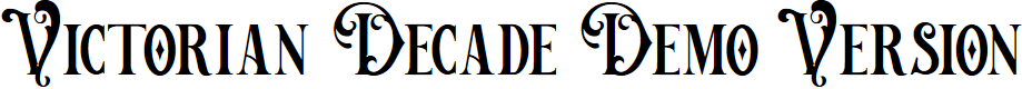 Preview image for Victorian Decade Demo Version Font