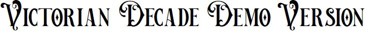 Victorian Decade Demo Version font