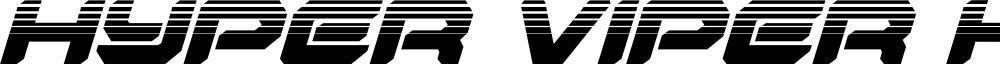 Hyper Viper Halftone Italic