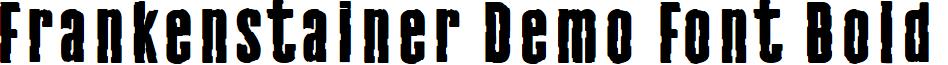 Frankenstainer Demo Font Bold
