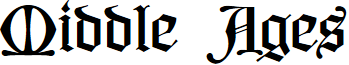 Middle Ages PERSONAL USE font