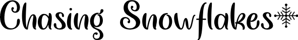 Preview image for Chasing Snowflakes Regular Font