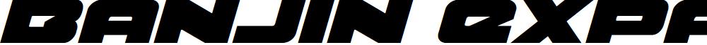 Banjin Expanded Italic