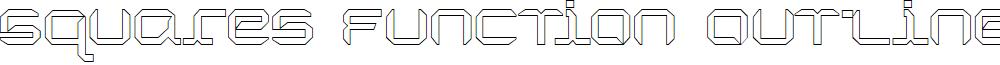 SquaresFunction Outline 9.0 font